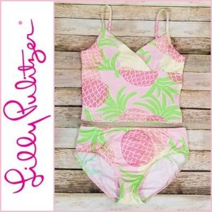 Lilly Pulitzer Girls Pineapple Print Swimsuit